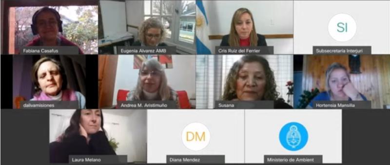 Se realizó un nuevo conversatorio del ciclo ambiente y género dedicado a trabajadoras rurales